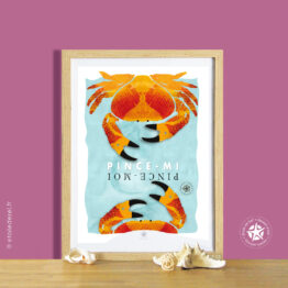 affiche du crabe en cadre