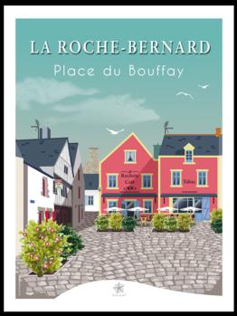 La jolie place du Bouffay au coeur de la roche bernard petite cité de caractère en bretagne