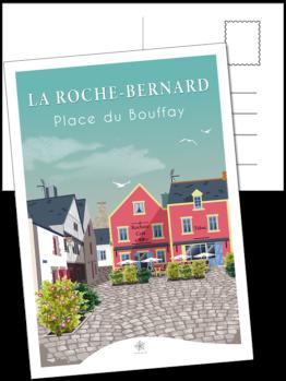 carte postale le rochois place du bouffay à la roche-bernard