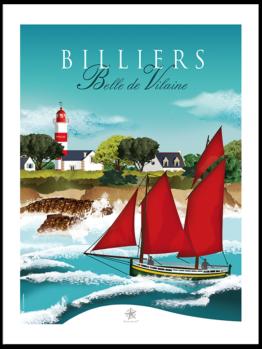 Vieux gréement traditionnnel, la belle de vilaine est basée dans le port de Pen Lan à Billiers
