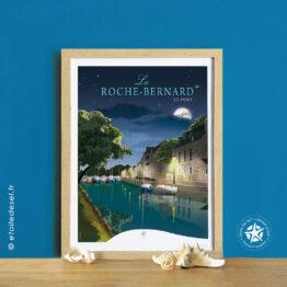 affiche et cadre le port de la roche bernard