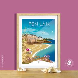 affiche de la pointe de pen-lan et du domaine de rochevilaine à billiers