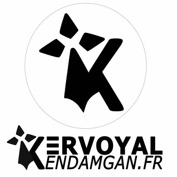 le logo de gwen ha du de kervoyal à damgan