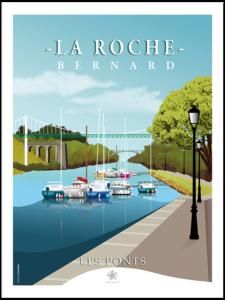 Les ponts et le port de la roche bernard petite citée de caractère en Bretagne