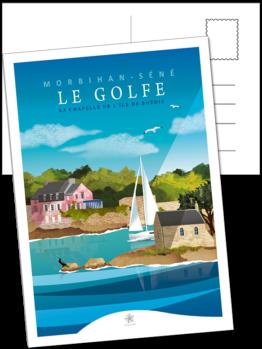 carte postale de la maison rose er de l'île boëdic à séné