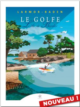 découvrez la nouvelle affiche du passage de l'île de Berder dans le golfe du Morbihan