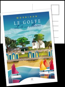 les cabines de la grande plage de l'île aux moines dans le morbihan en bretagne