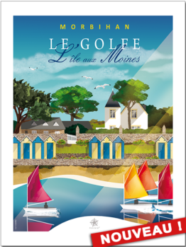 Découvrez la nouvelle affiche des cabines de l'île aux moines en Bretagne